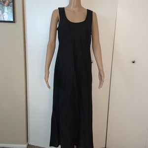 * Brooks Brothers Irish Linnen Black Maxi Dr…
